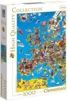 Puzzle 1000 Clementoni 39384 Mapa Europy