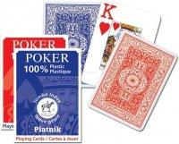 Karty do Gry Pokerowe - Plastikowe Piatnik 1 Talia 1361 Duże Indeksy