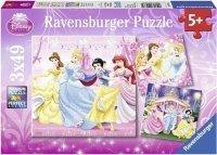 Puzzle 3x49 Ravensburger 092772 Księżniczki