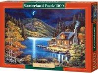 Puzzle 1000 Castorland C-102990 Domek - Moonlit Cabin
