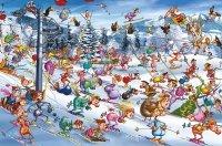 Puzzle 1000 Piatnik P-5351 Ruyer - Święta na Stoku