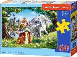 Puzzle 60 Castorland B-06830 Księżniczka i jej Przyjaciel Koń