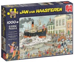 Puzzle 1000 Jumbo 19055 Jan van Haasteren - Parada Świętego Mikołaja w Holandii
