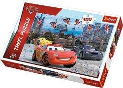 Puzzle 100 Trefl T-16295 Cars 2 - Wyścig w Londynie