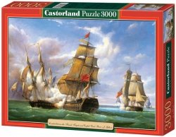 "Puzzle 3000 Castorland C-300037 Copy of ""Combat between the French Frigate »La Canonniere« and the English Vessel »The Tremendou"