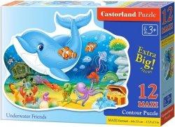 Puzzle 12 Maxi Castorland B-120093 Delfin - Podwodni Przjaciele