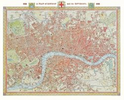 Puzzle 1000 Piatnik P-5424 Londyn - Mapa