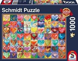 Puzzle 1000 Schmidt 58295 Serca - Kolaż