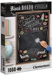 Puzzle 1000 Clementoni 39468 Black Board Think Outside the Box