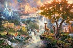 Puzzle 1000 Schmidt 59486 Thomas Kinkade - Bambi - Disney