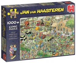 Puzzle 1000 Jumbo 19063 Jan van Haasteren - Wizyta na Farmie