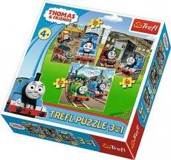 Puzzle 3w1 Trefl T-34821 Tomek Rusza do Akcji - Thomas&Fiends