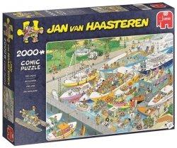 Puzzle 2000 Jumbo 19068 Jan van Haasteren - Śluza Wodna