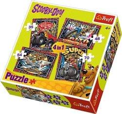 Puzzle 4w1 Trefl T-34257 Przygody Scooby Doo