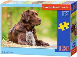 Puzzle 120 Castorland B-13326 Pies i Kot
