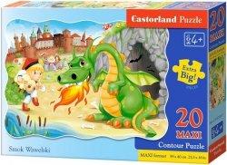 Puzzle 20 Maxi Castorland C-02269 Smok Wawelski