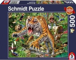 Puzzle 500 Schmidt 58226 Atak Tygrysa