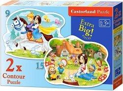 Puzzle 2w1 Castorland 15, 9 - Królewna Śnieżka 020041