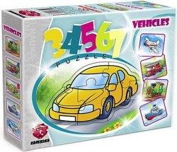 ! Pierwsze Puzzle Malucha Maxim 3,4,5,6,7 Pojazdy