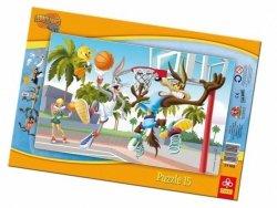 Puzzle Ramkowe 15 Trefl 31109 Królik Bugs Mecz Koszykówki