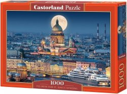 Puzzle 1000 Castorland C-103447 Fullmoon Over St. Isaacs Cathedral