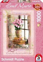 Puzzle 1000 Schmidt 59392 Gail Marie - Różowe Róże - Miłość