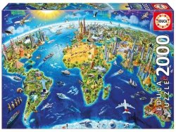 Puzzle 2000 Educa 17129 Mapa - Kula Ziemska
