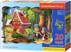 Puzzle 20 Maxi Castorland C-02368 Jaś i Małgosia