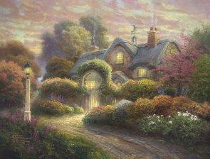 Puzzle 1000 Schmidt 59466 Thomas Kinkade - Chatka w Różanym Ogrodzie