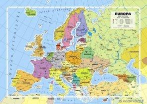 ! Puzzle 260 Maxim  M-260.07.02 Mapa Administracyjna Europy