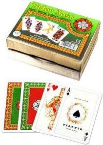 Karty do Gry Lux Piatnik 2 Talie 2137 Róża Tudorów