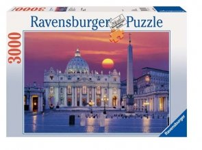 Puzzle 3000 Ravensburger 170340 Rzym - Katedra Świętego Piotra