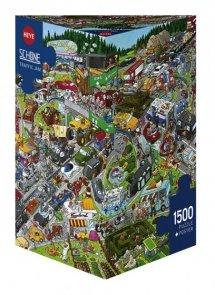 Puzzle 1500 Heye 29698 Korek na Autostradzie - Schone