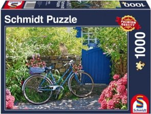 Puzzle 1000 Schmidt 58275 Rowerem przez Świat
