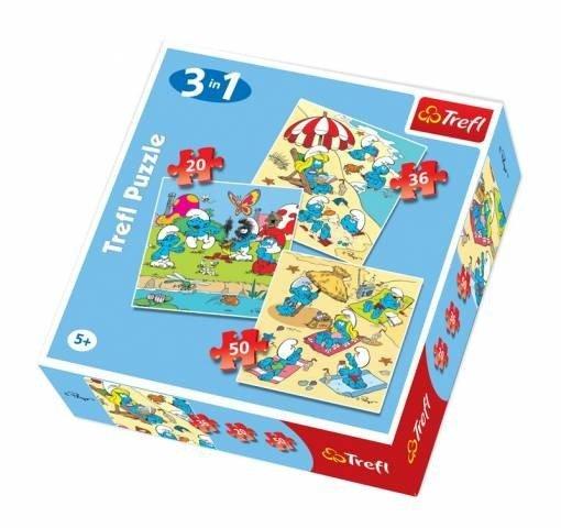 Puzzle 3w1 Trefl T-34092 Smerfne Harce