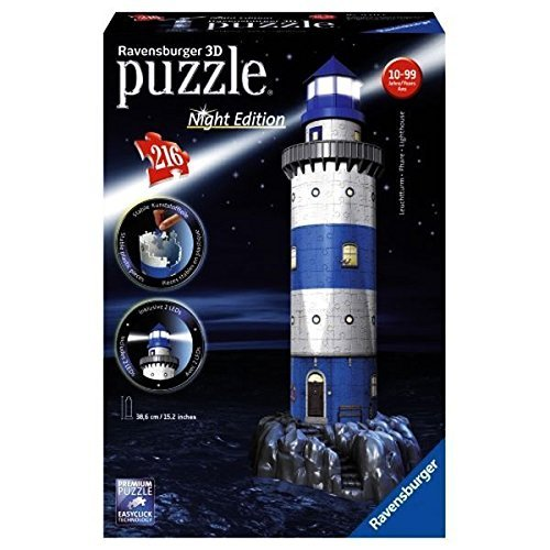 Puzzle 3D 216 Ravensburger 125777 Latarnia Morska Nocą