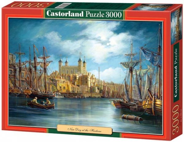 Puzzle 3000 Castorland C-300167 New Day at the Harbour