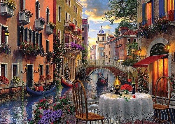 Puzzle 6000 Trefl 65003 Wenecja - Romantyczna Kolacja