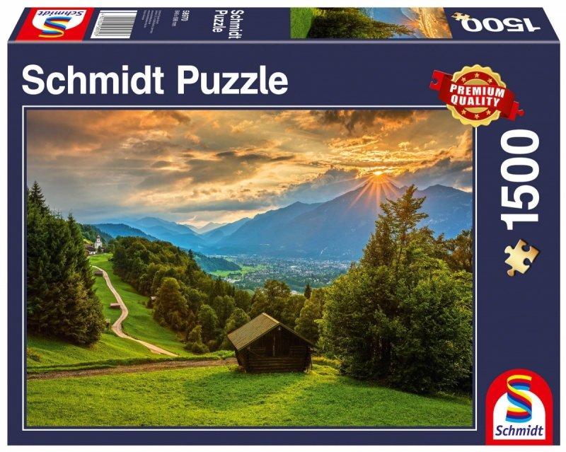 Puzzle 1500 Schmidt 58970 Zachód Słońca nad Wambergiem