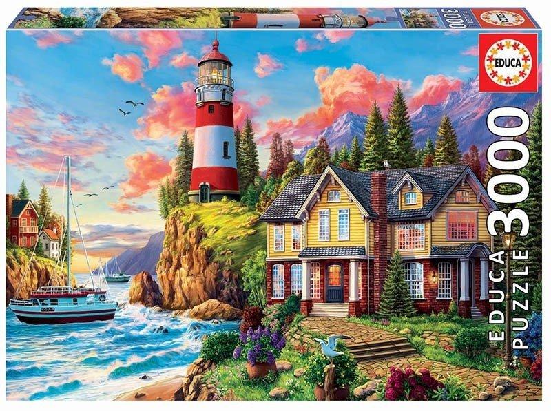 Puzzle 3000 Educa 18507 Latarnia Morska nad Oceanem
