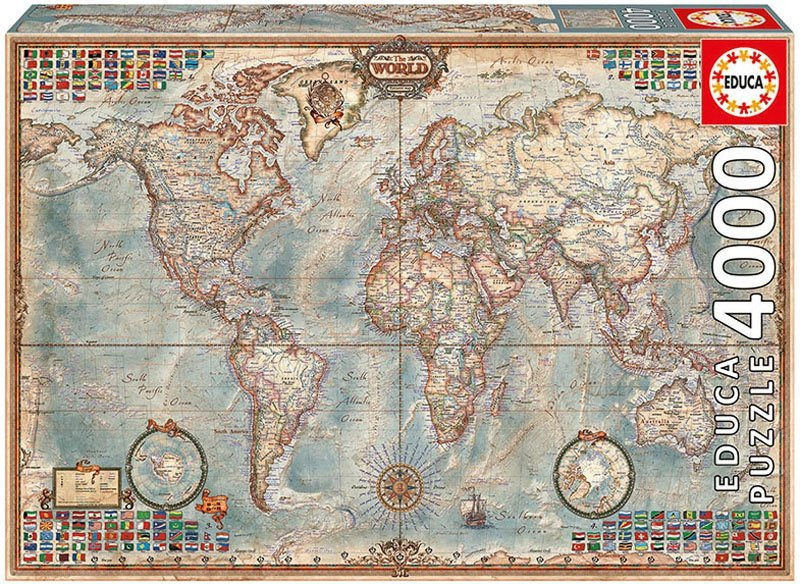 Puzzle 4000 Educa 14827 The World - Executive Map