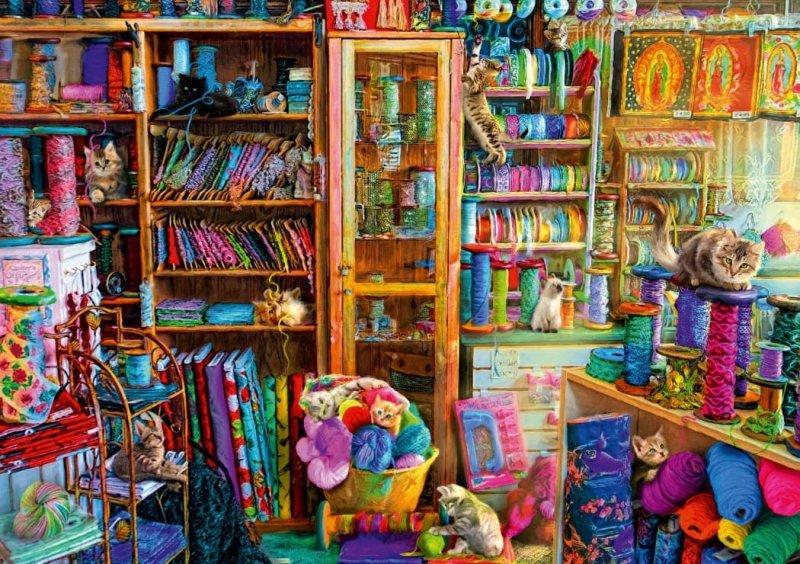 Puzzle 1000 Bluebird 70331 Aimee Stewart - Raj dla Kotów