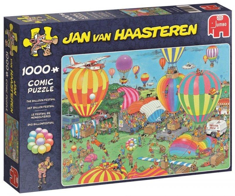 Puzzle 1000 Jumbo 19052 Jan van Haasteren - Festiwal Balonów