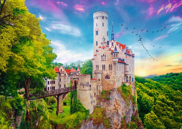Puzzle 1000 Trefl 10497 Zamek Lichtenstein - Niemcy