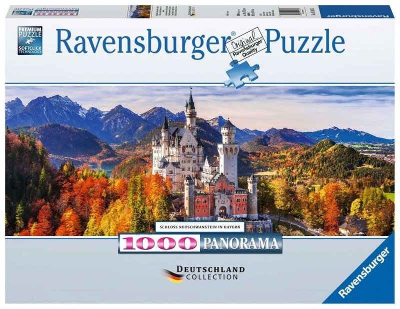 Puzzle 1000 Ravensburger 151615 Panorama - Zamek Neuschwanstein