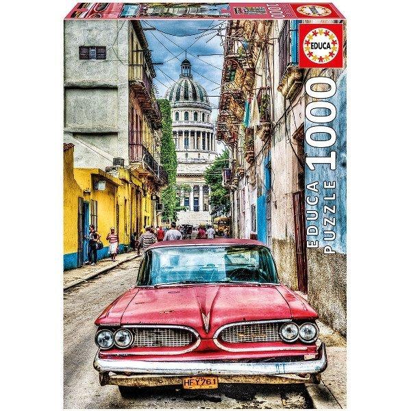 Puzzle 1000 Educa 16754 Auto - Vintage Car in old Havana