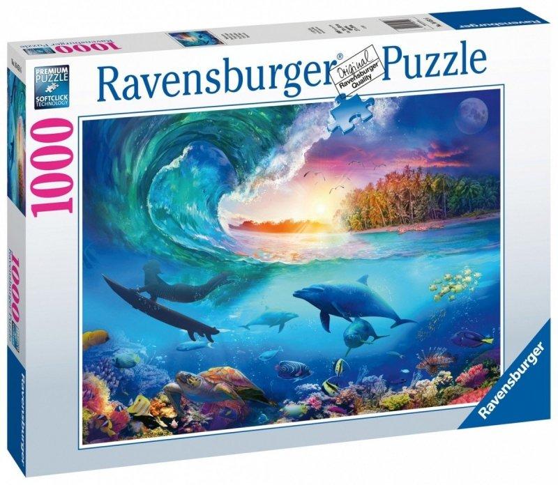 Puzzle 1000 Ravensburger 164516 Serfer Łapiacy Fale