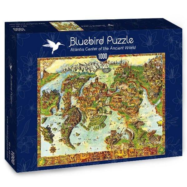 Puzzle 1000 Bluebird 70317 Mapa - Albert Lorenz -  Centrum Atlantis Starożytnego Światawiata