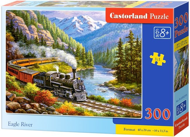 Puzzle 300 Castorland B-030293 Pociąg - Lokomotywa