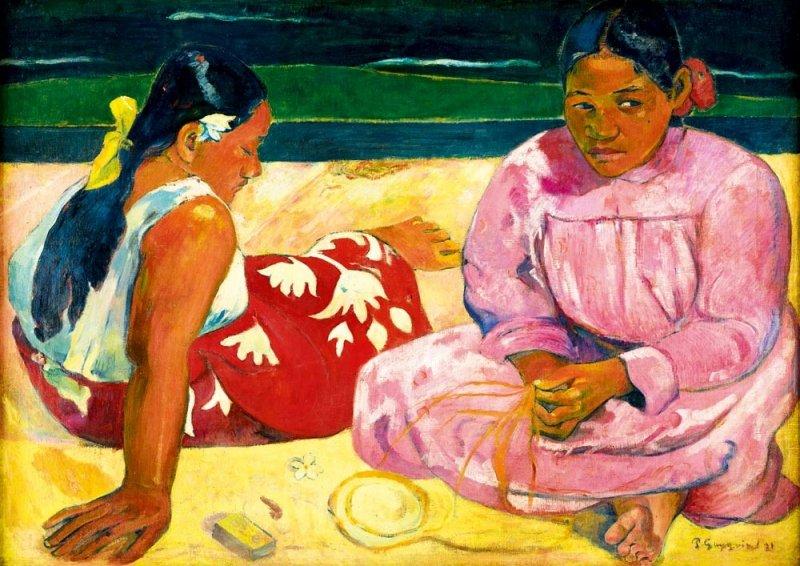 Puzzle 1000 Bluebird 60076 Gauguin - Tahitańskie Kobiety na Plaży - 1891